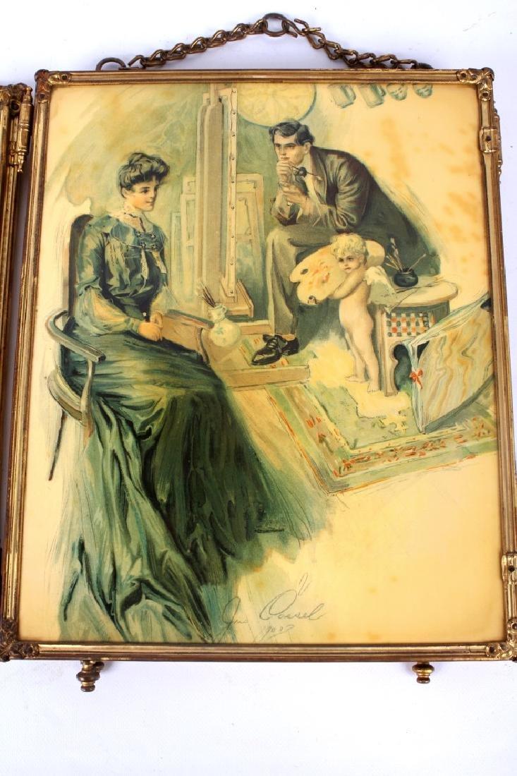 Antique Triptych Travel Mirror circa 1903 - 9