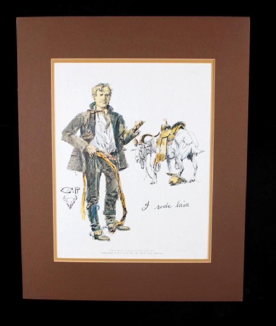 Charlie Russell B.P.O.E. Montana Print