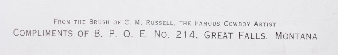 Charlie Russell B.P.O.E. Montana Print - 7