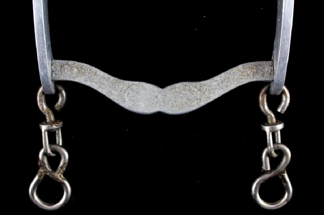 Engraved Aluminum Crockett Western Horse Bit - 6