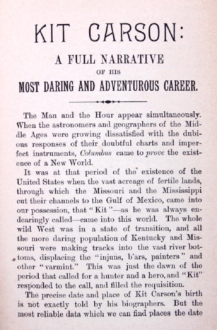 Daring Adventures of Kit Carson and Fremont 1885 - 6