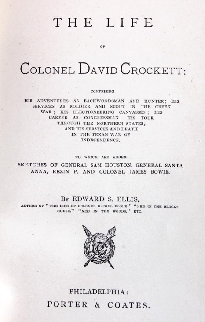 Life of Davy Crockett by Ellis 1st Edition 1884 - 3