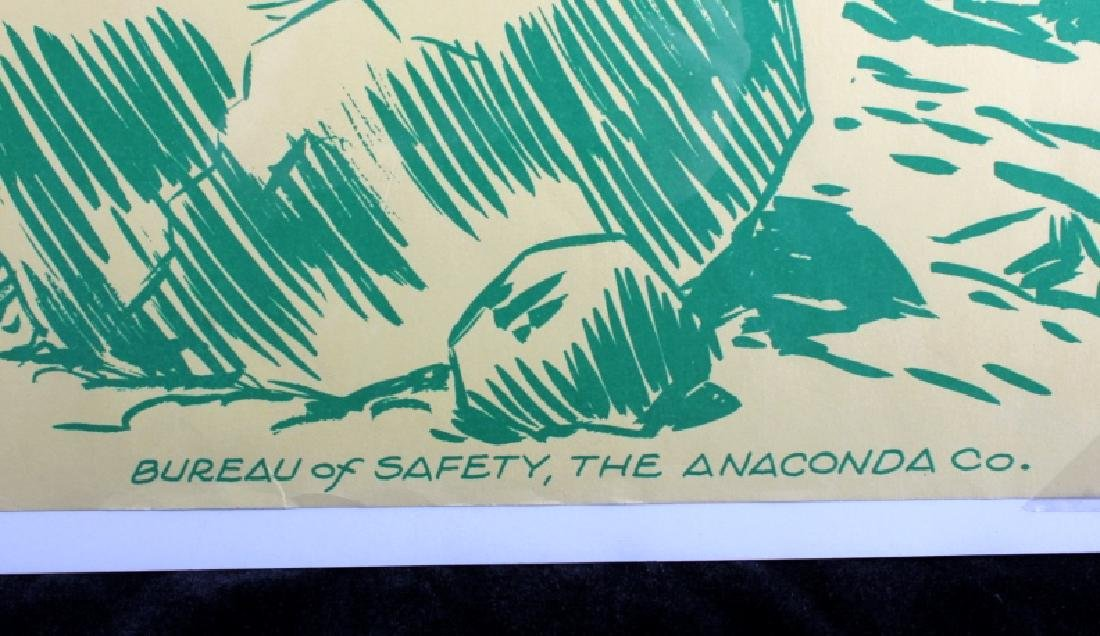 Original Anaconda Company Mining Safety Poster - 5