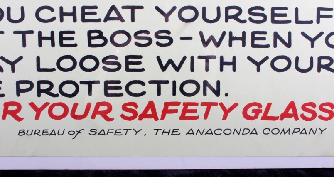 Original Anaconda Company Mining Safety Poster - 7