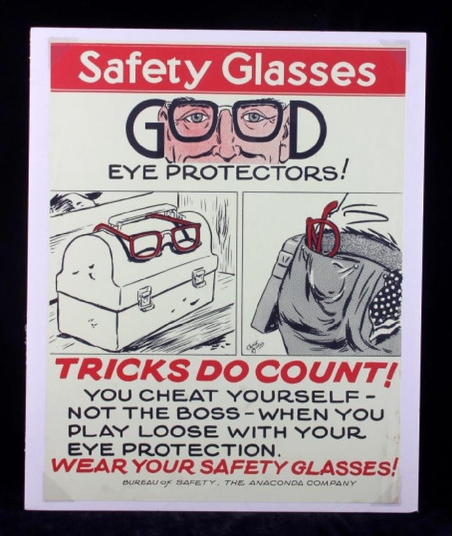 Original Anaconda Company Mining Safety Poster - 9