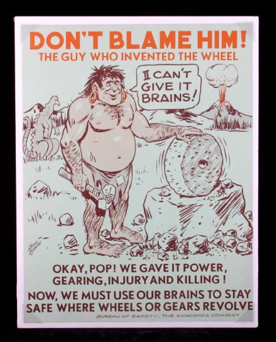 Original Anaconda Company Mining Safety Poster - 10