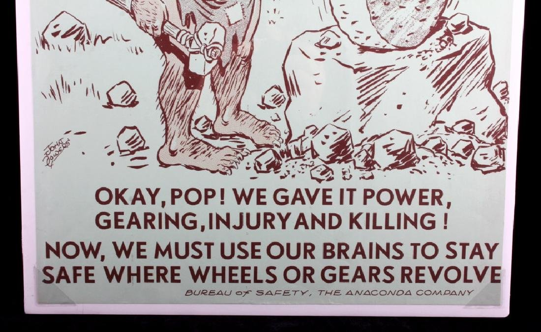 Original Anaconda Company Mining Safety Poster - 5