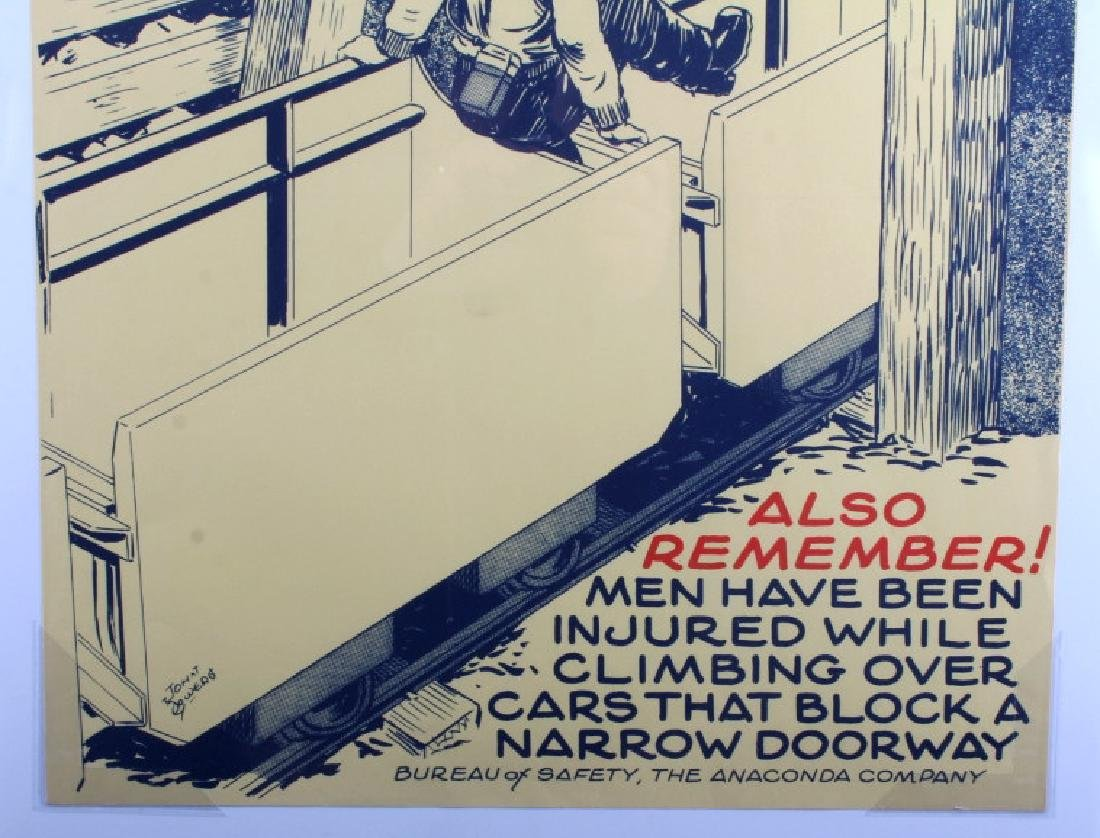 Original Anaconda Company Mining Safety Poster - 3