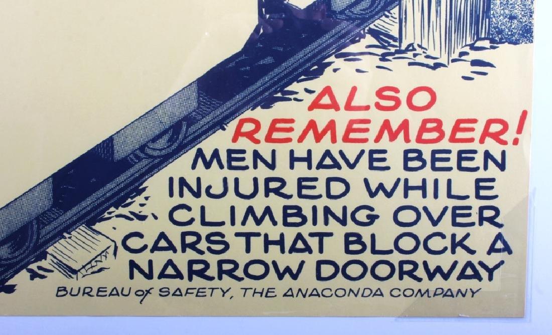Original Anaconda Company Mining Safety Poster - 6