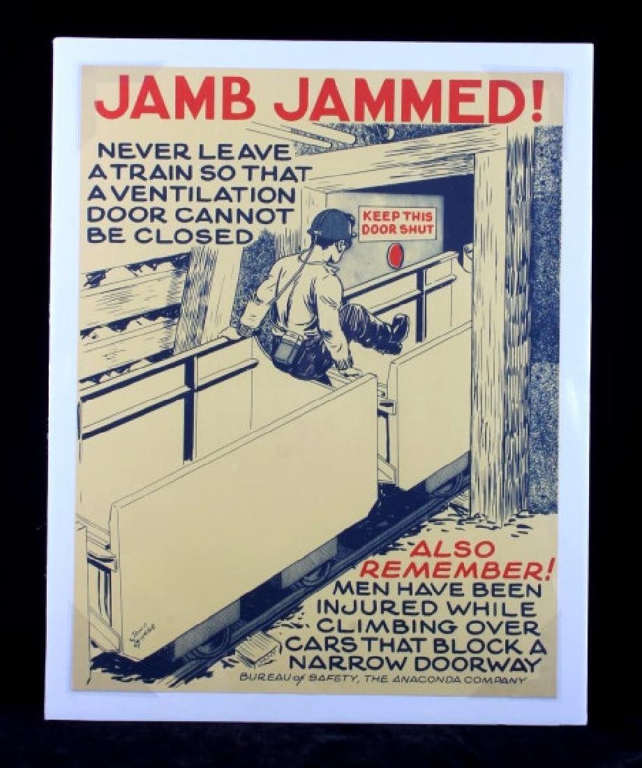 Original Anaconda Company Mining Safety Poster - 8