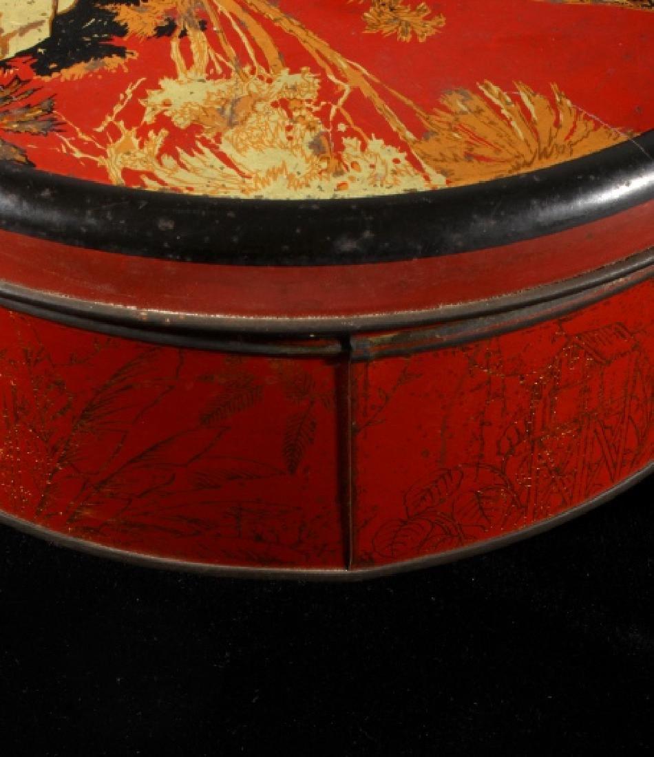 Art Deco Seminole Native American Tin Canister - 10