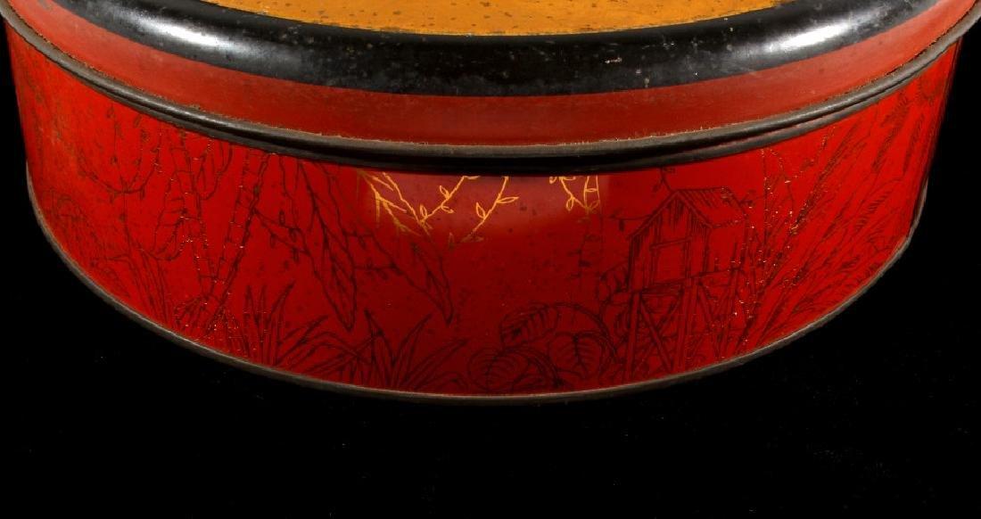 Art Deco Seminole Native American Tin Canister - 3