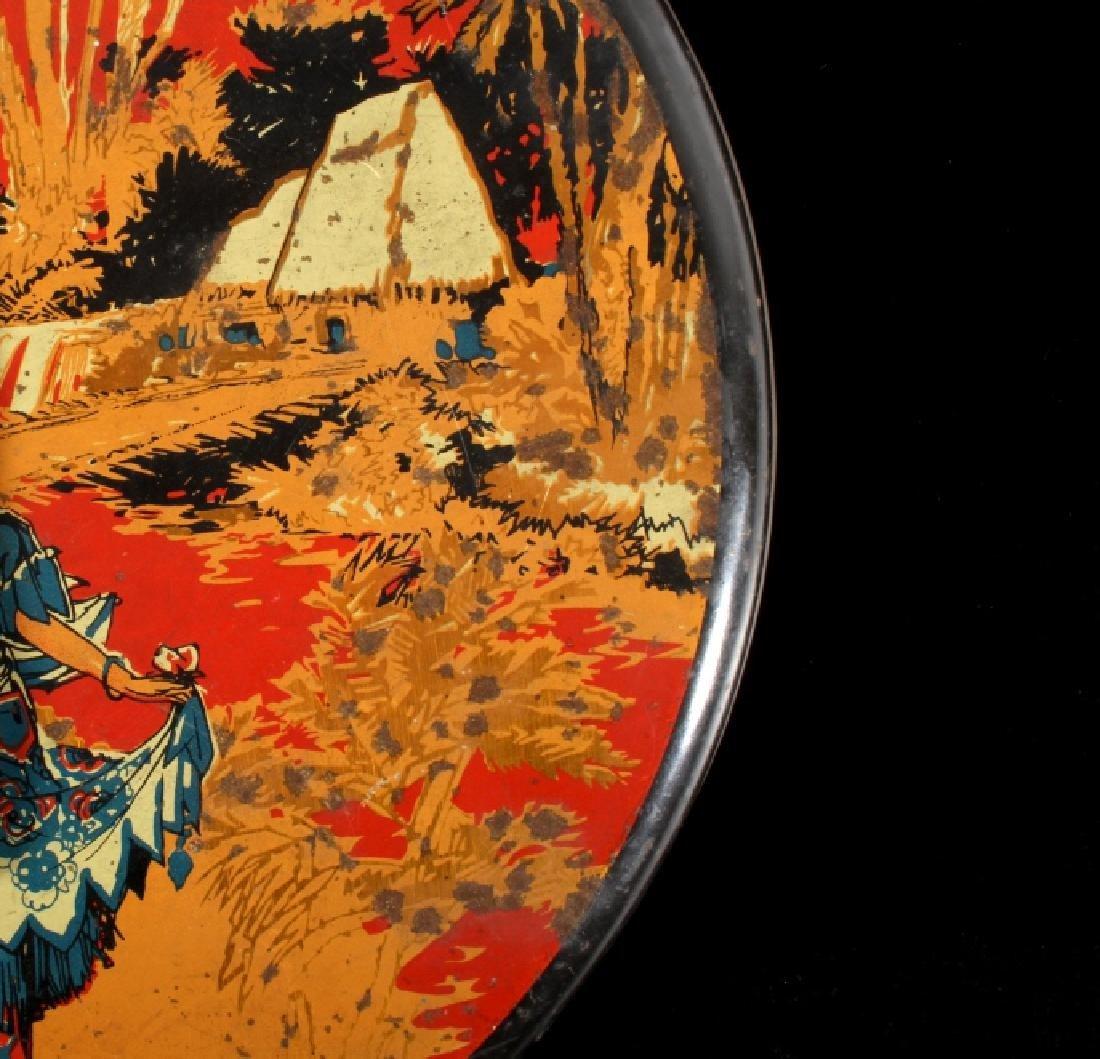 Art Deco Seminole Native American Tin Canister - 6