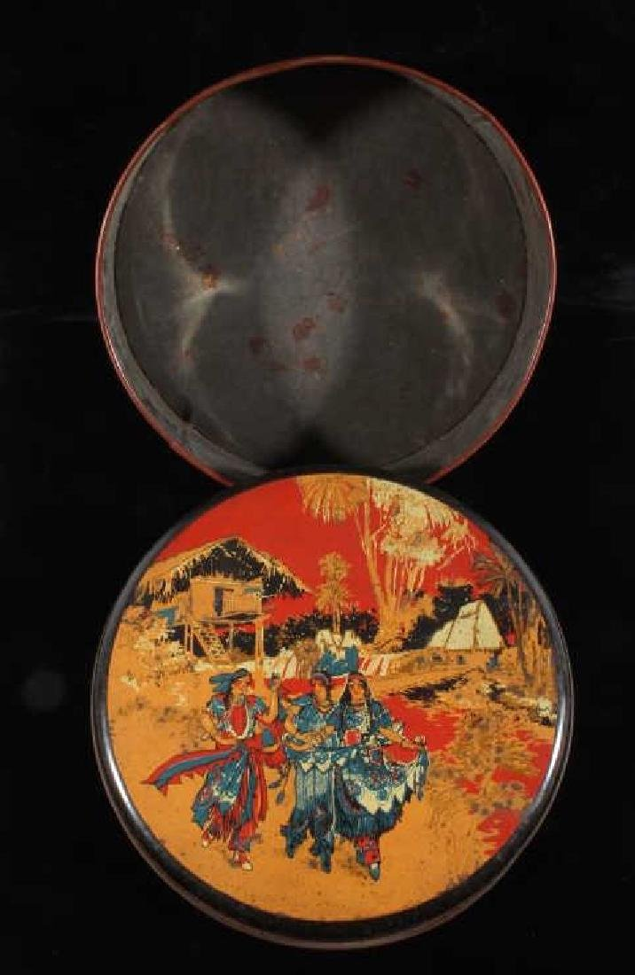 Art Deco Seminole Native American Tin Canister - 7