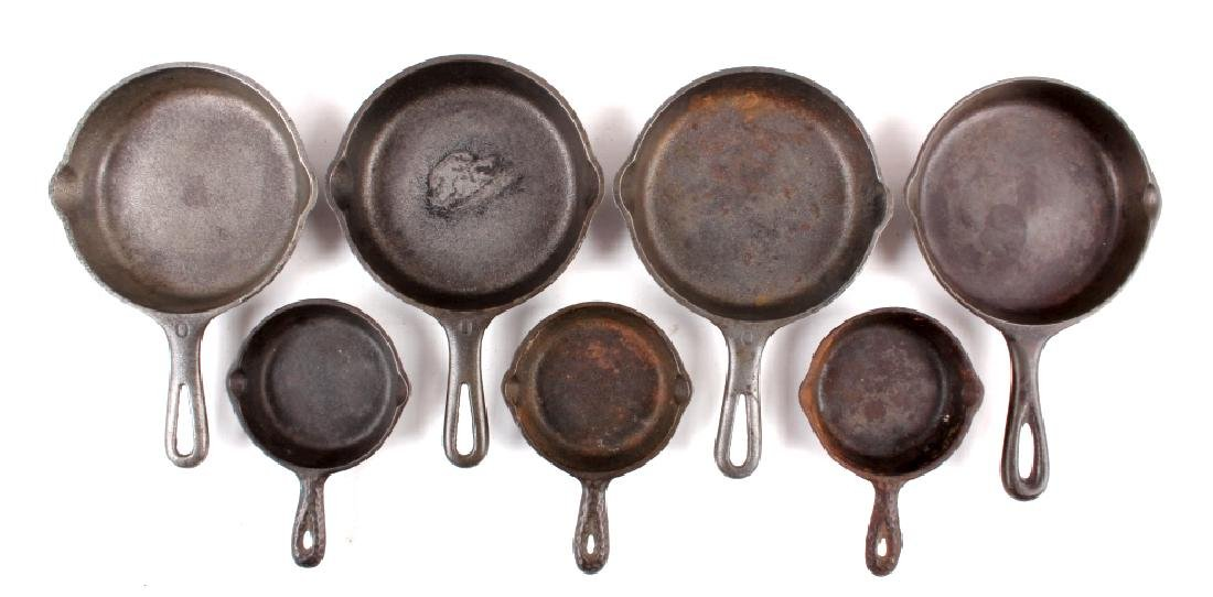 Collection of Griswold & Other Cast Iron Toy Pans