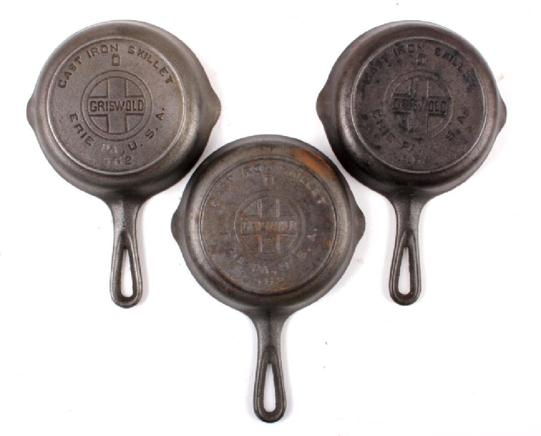 Collection of Griswold & Other Cast Iron Toy Pans - 2