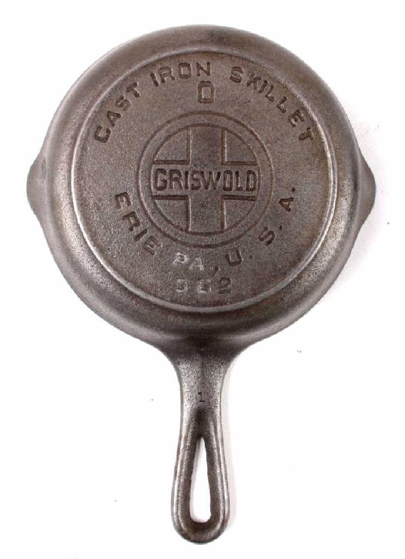 Collection of Griswold & Other Cast Iron Toy Pans - 3