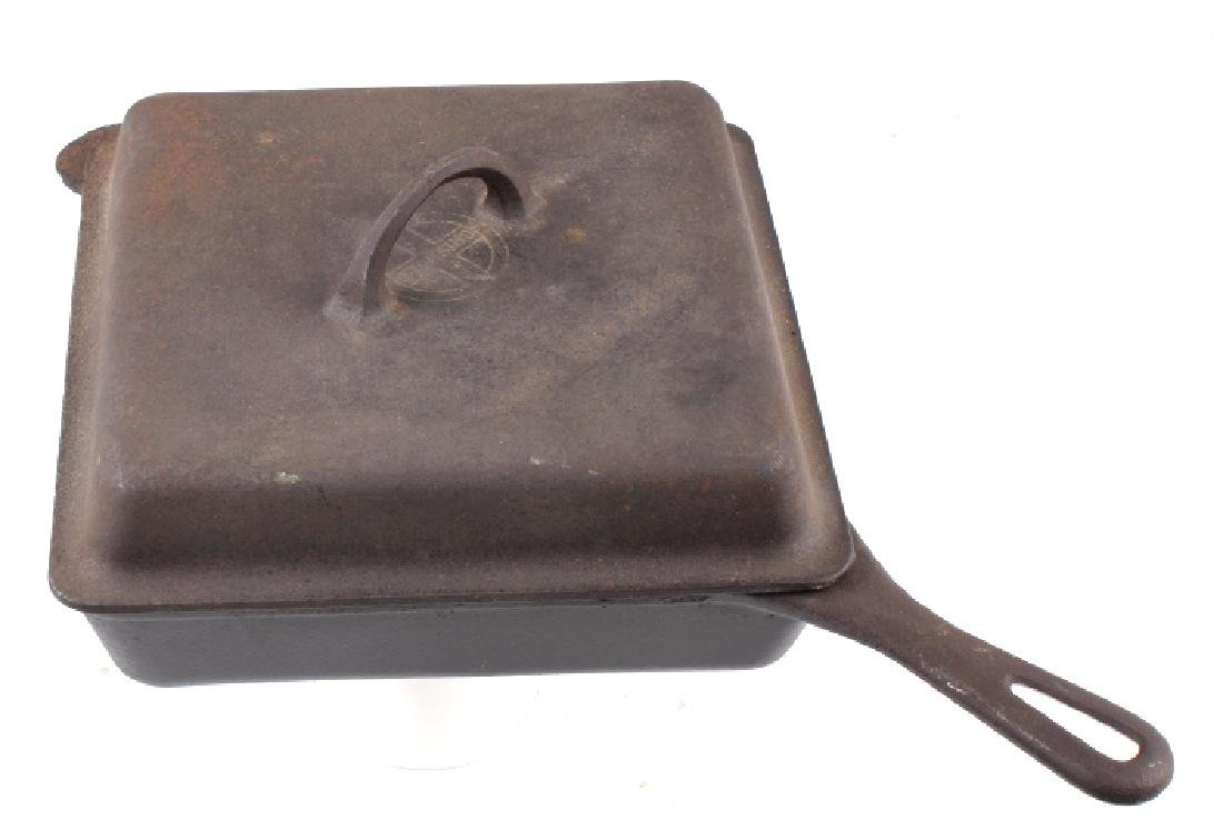 Griswold Number 768 Deep Square Skillet with Lid - 2