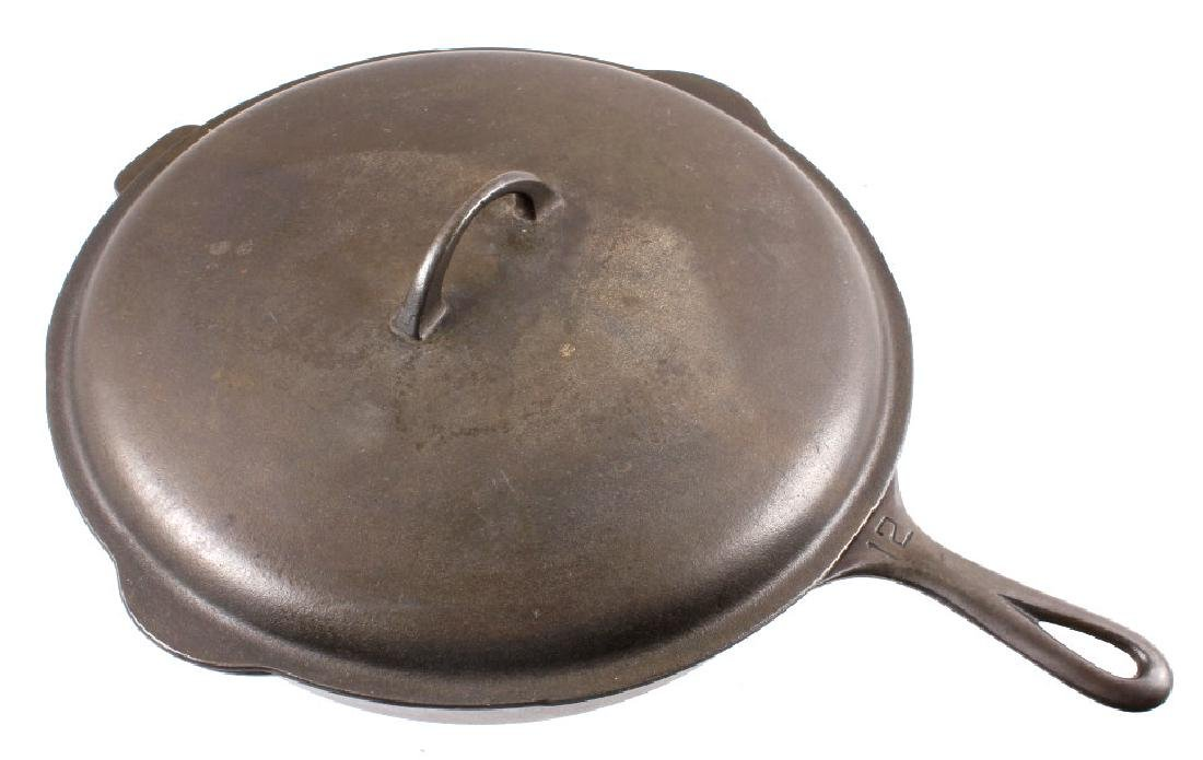 Griswold Number 12 skillet with lid - 2