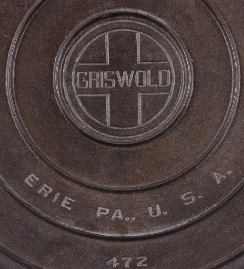 Griswold Number 12 skillet with lid - 8