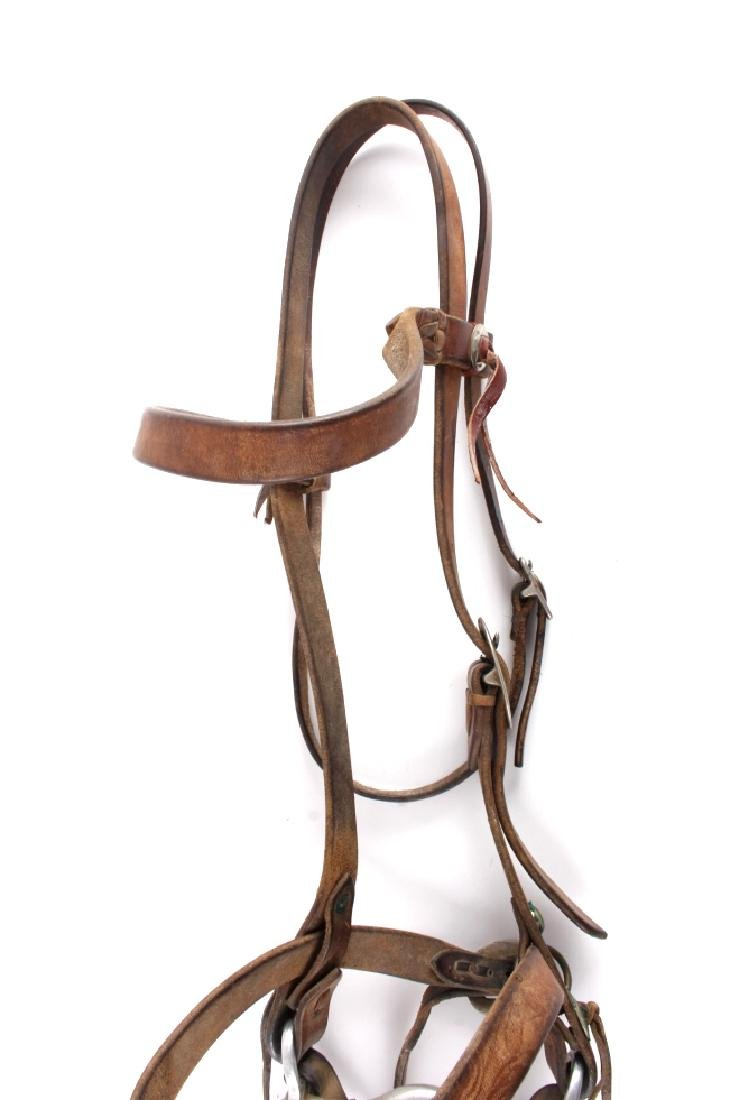 Leather Headstall with Renalde Aluminum Bit - 2