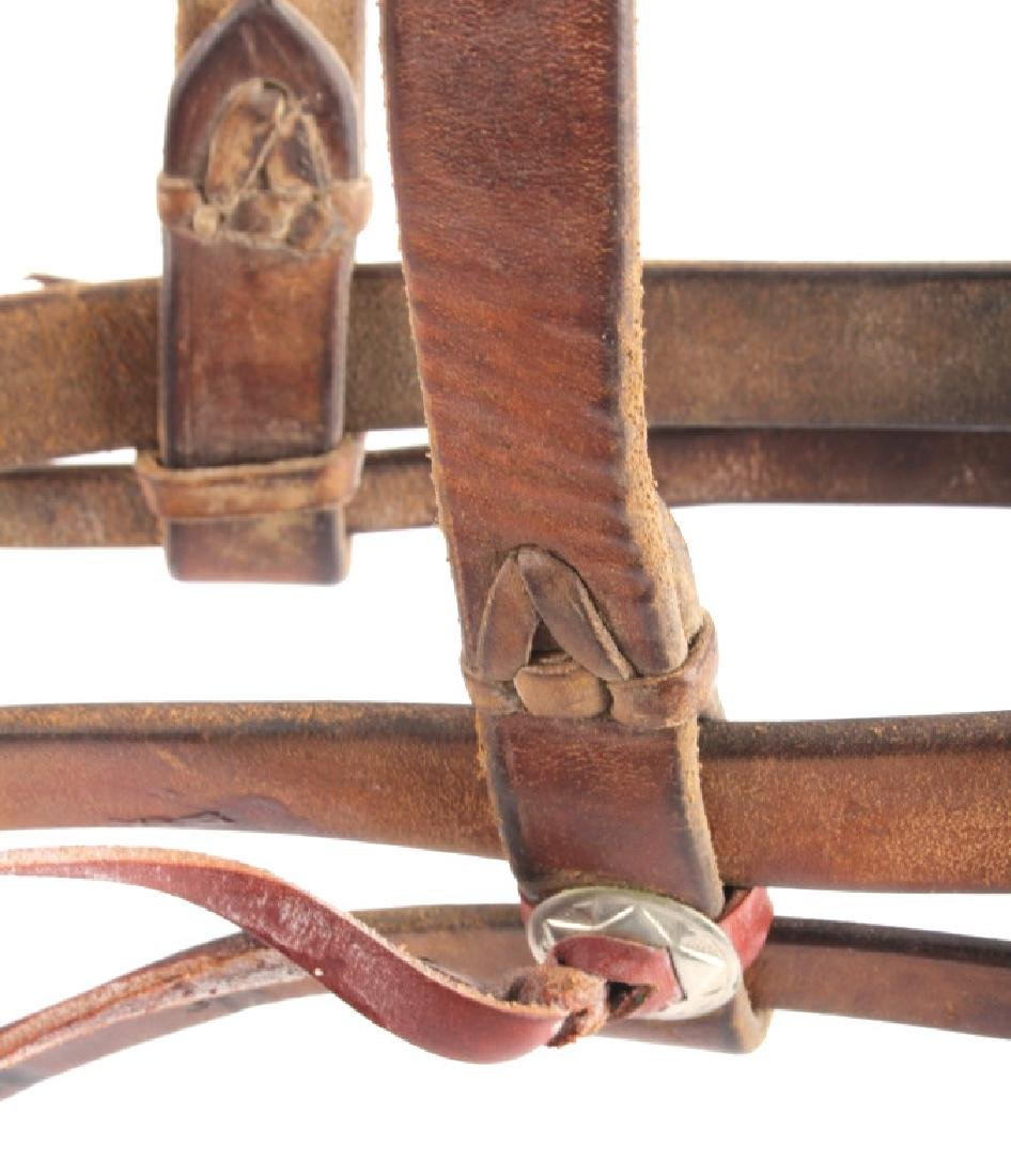 Leather Headstall with Renalde Aluminum Bit - 4