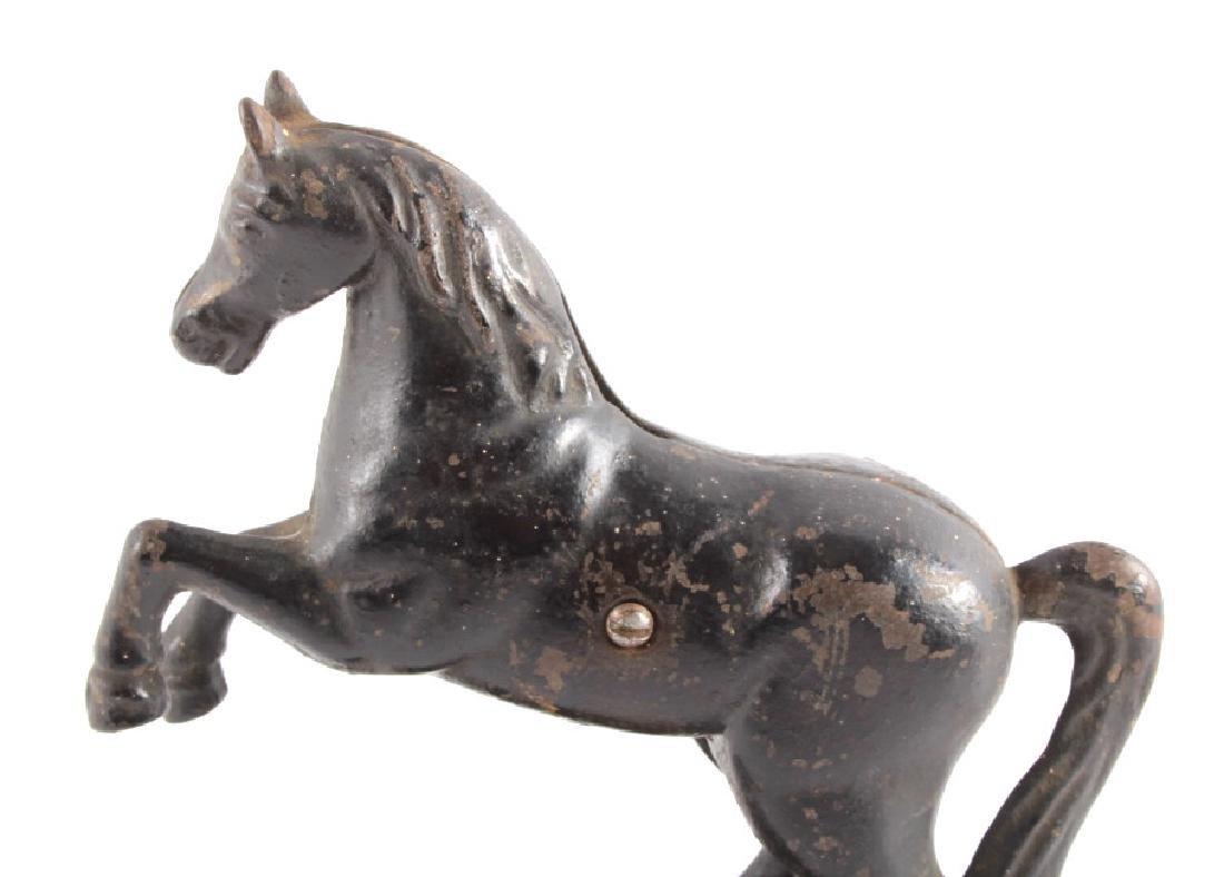 Antique Cast Iron Horse Coin Banks - 10