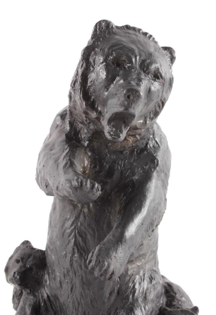 Signed Nielsen Chalkware Bear Family Sculpture - 2
