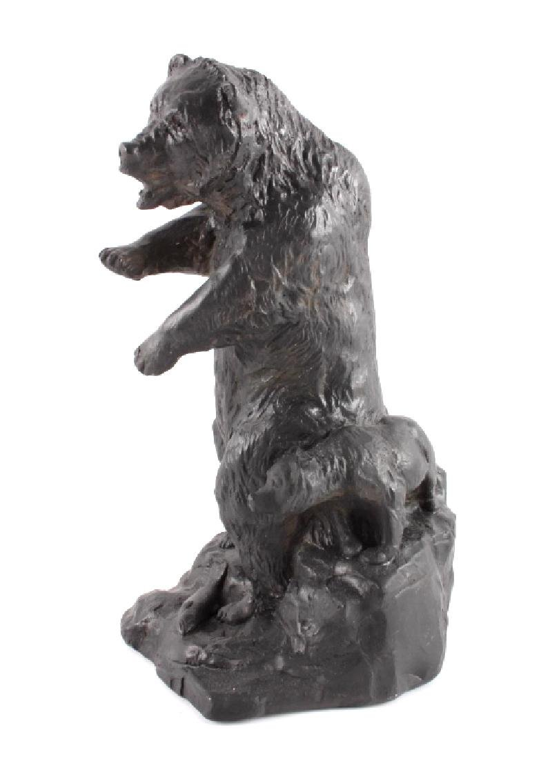 Signed Nielsen Chalkware Bear Family Sculpture - 5