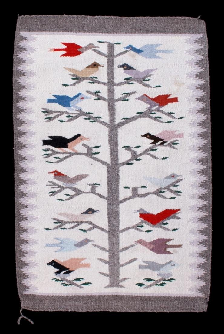 Navajo Tree of Life Pictorial Wool Rug