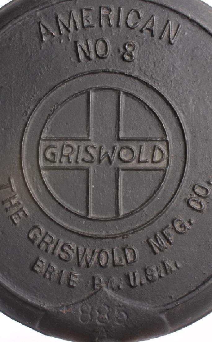 Set of Griswold Number 8 Waffle makers w/ Bases - 14