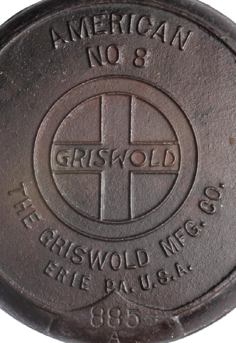 Set of Griswold Number 8 Waffle makers w/ Bases - 7