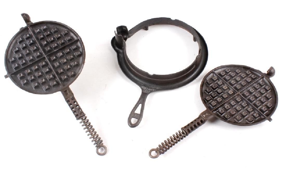 Pair of Griswold No. 8 Waffle Irons with Bases - 12