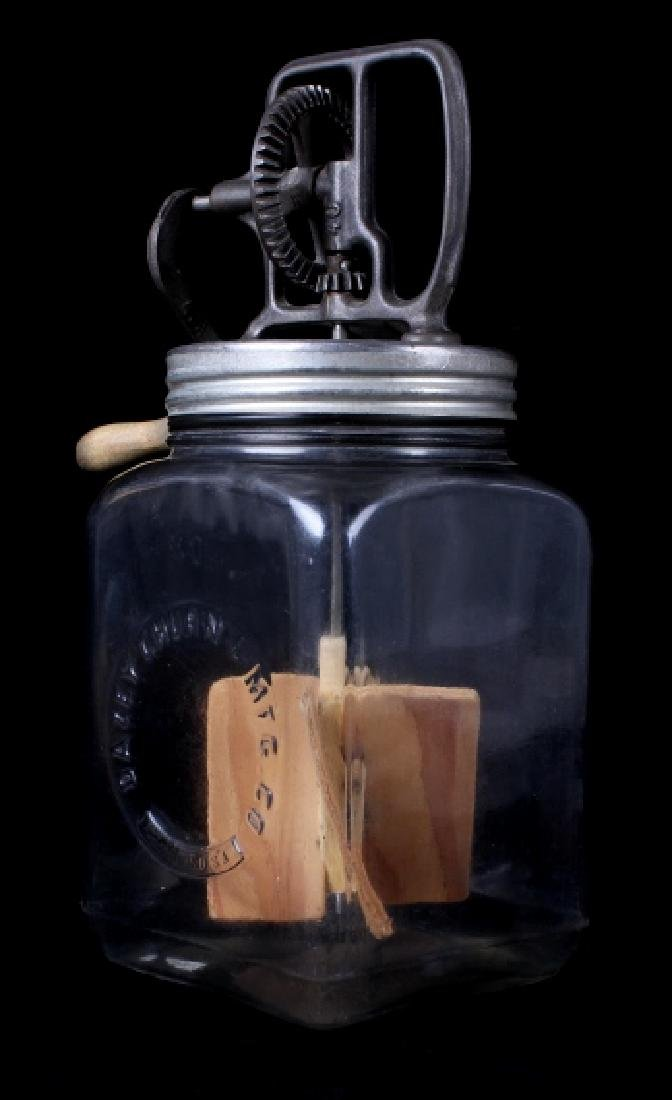 Antique Dazey No. 40 Butter Churn with Glass Jar