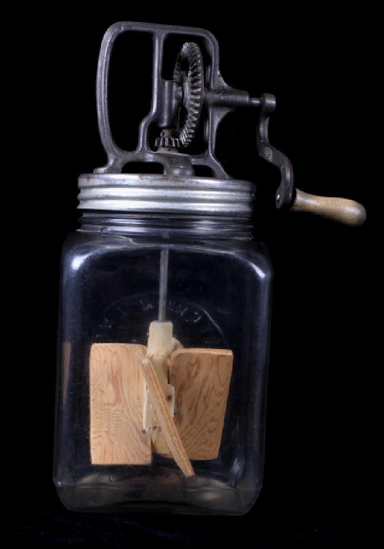 Antique Dazey No. 40 Butter Churn with Glass Jar - 6