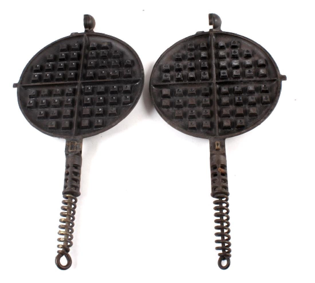 Griswold No 8./No 9. Waffle Makers with Bases - 10