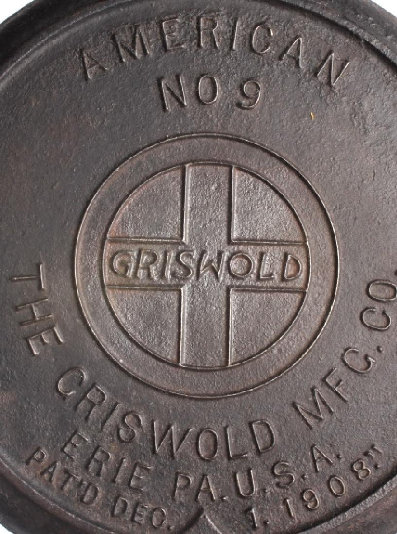 Griswold No 8./No 9. Waffle Makers with Bases - 6