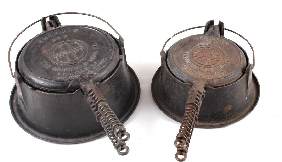 Griswold No 9. & No 7. Waffle Makers with Bases