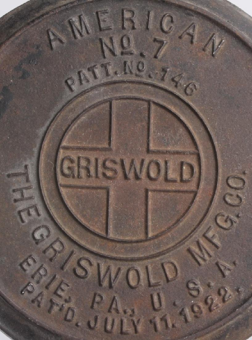Griswold No 9. & No 7. Waffle Makers with Bases - 9