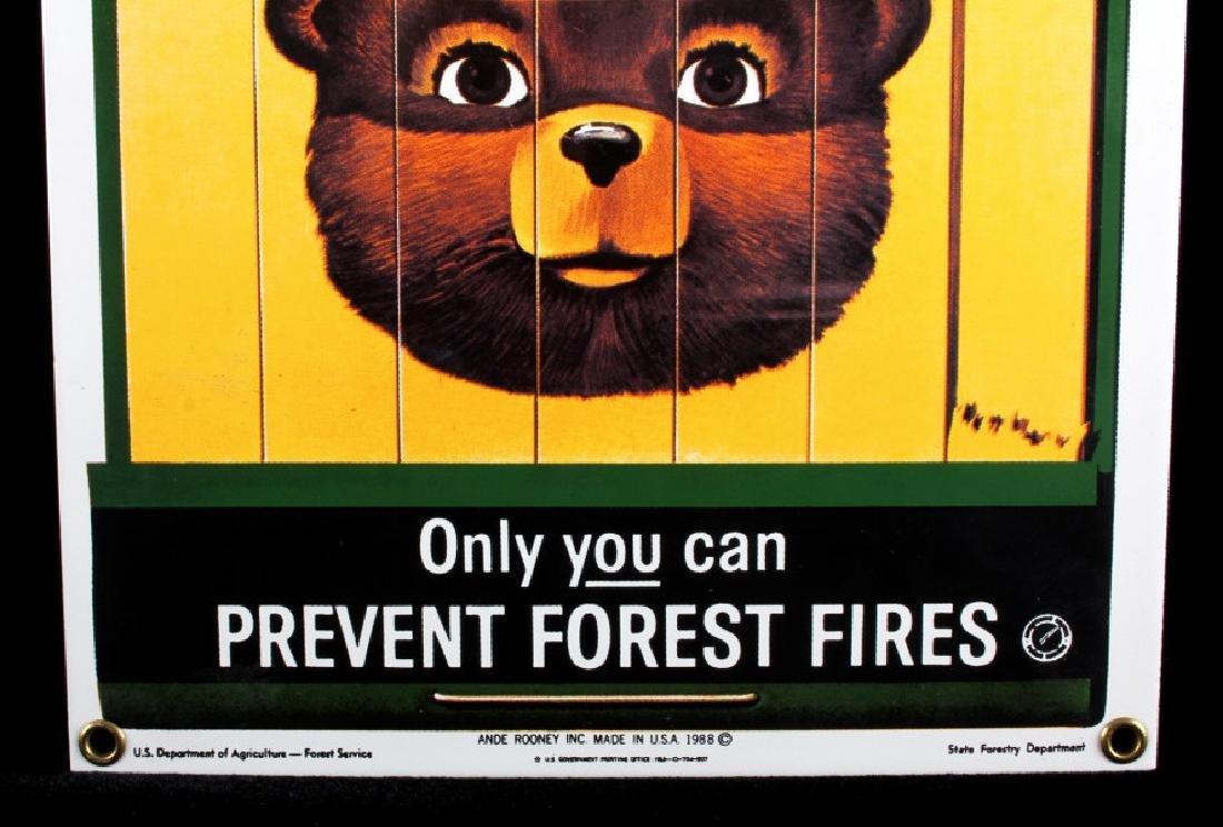 Smokey Bear U.S. Forest Service Porcelain Sign - 4