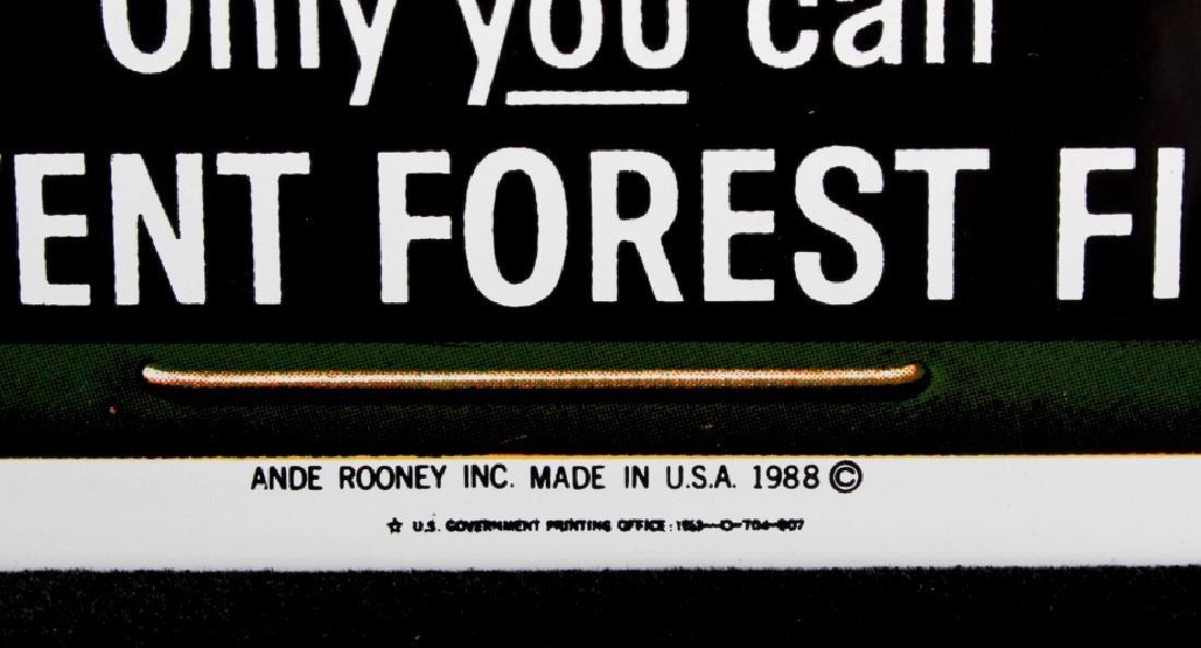 Smokey Bear U.S. Forest Service Porcelain Sign - 6