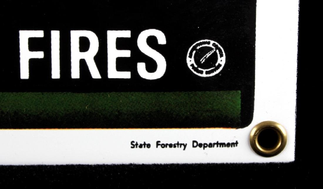 Smokey Bear U.S. Forest Service Porcelain Sign - 7