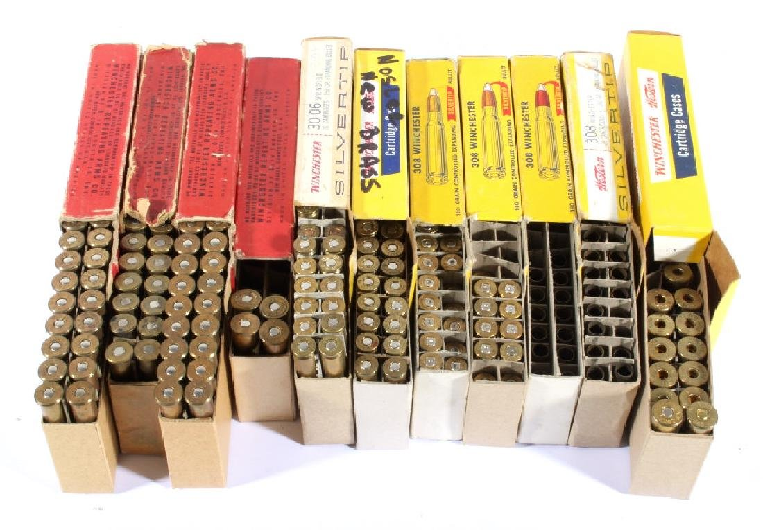 Antique Winchester & Western Ammo & Boxes (11) - 2