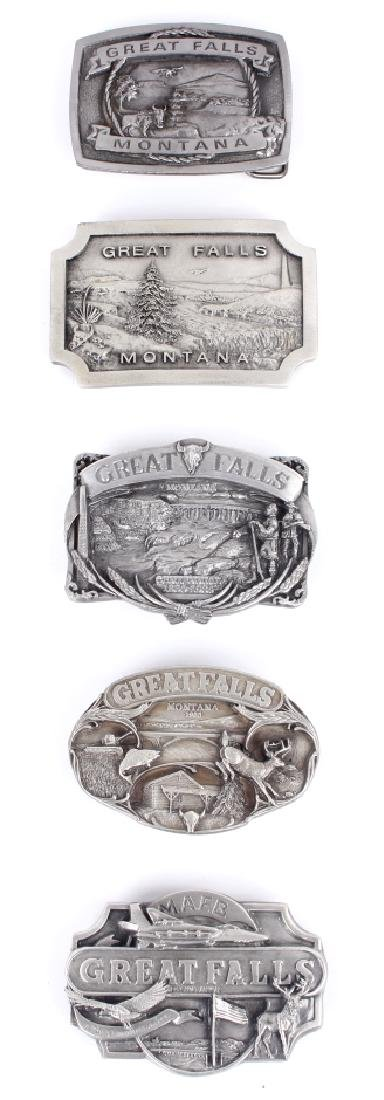 Great Falls MT Belt Buckle Collection