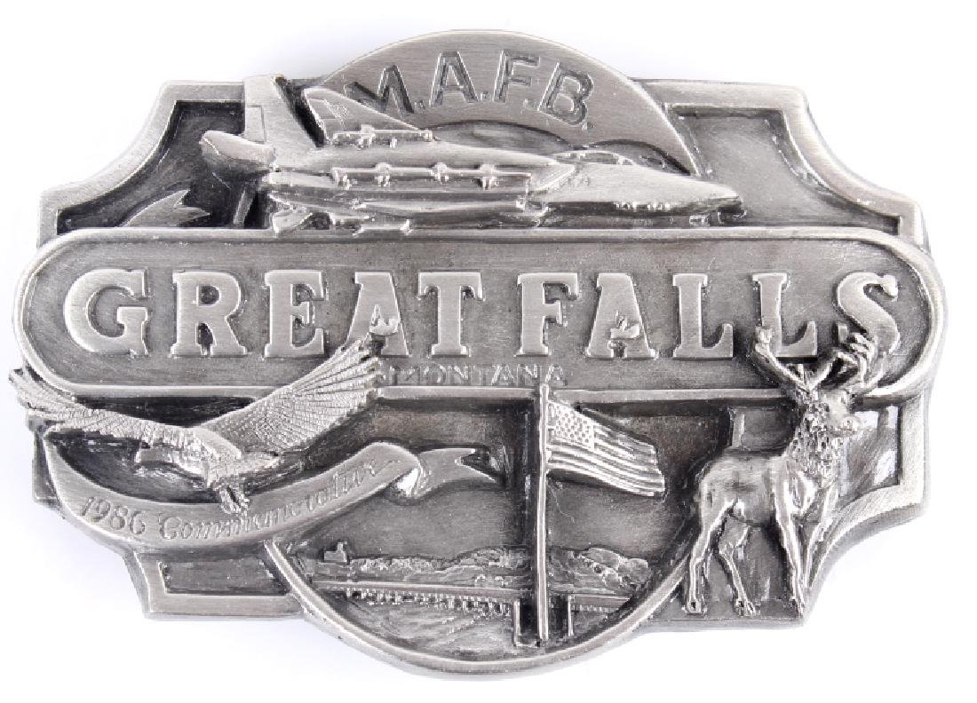 Great Falls MT Belt Buckle Collection - 2
