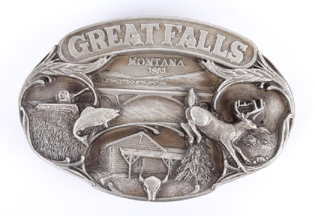 Great Falls MT Belt Buckle Collection - 3