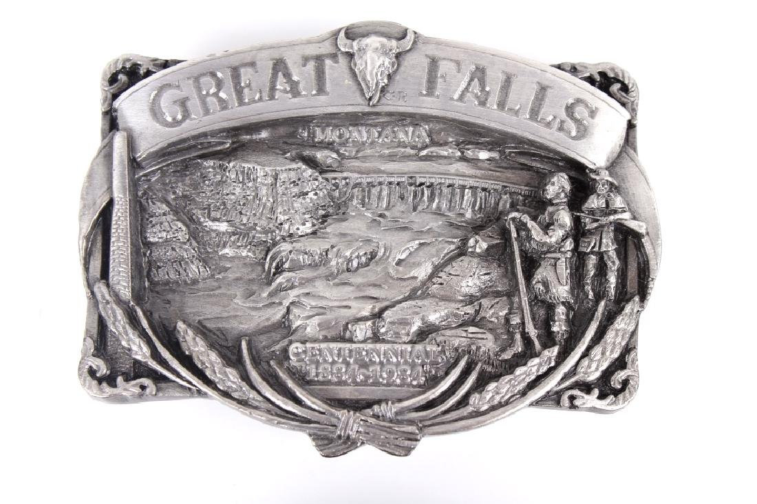 Great Falls MT Belt Buckle Collection - 4