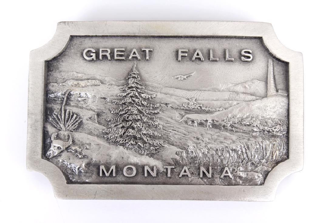 Great Falls MT Belt Buckle Collection - 5