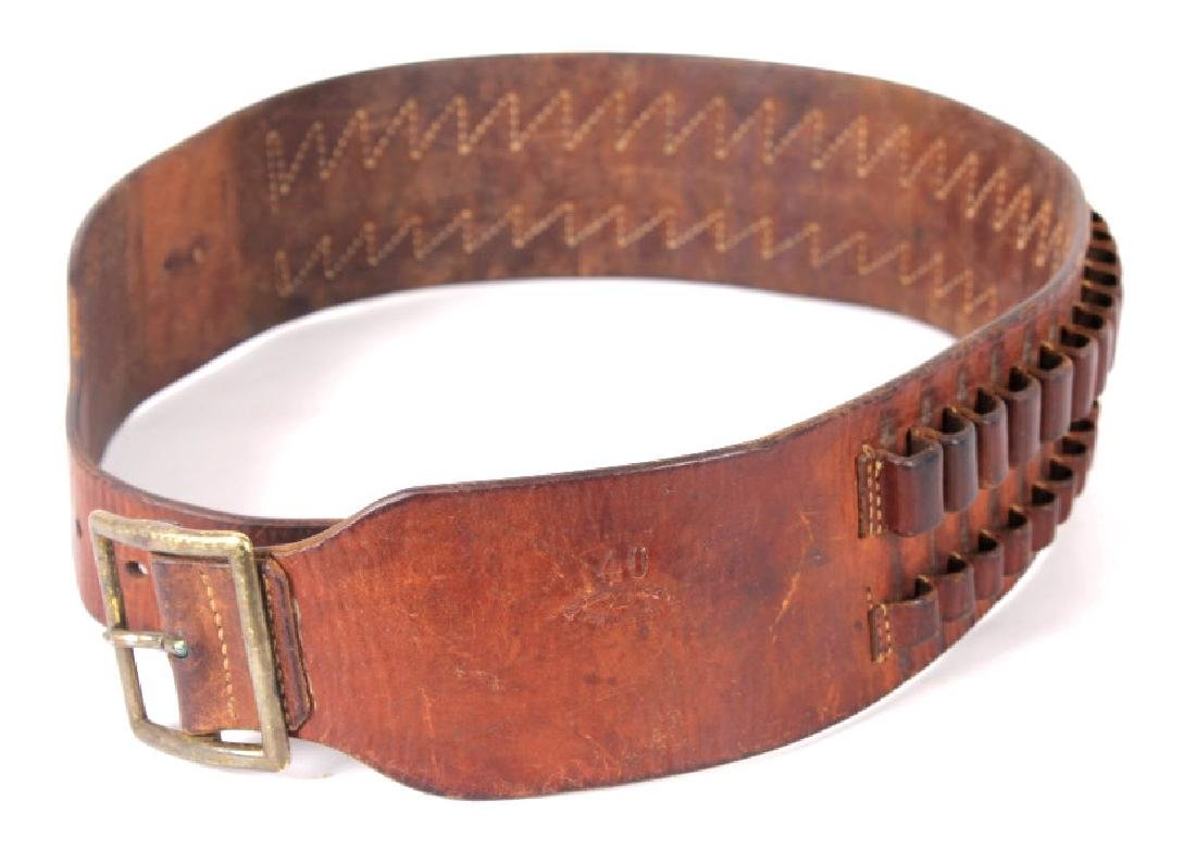 Antique George Lawrence Leather Ammo Belt
