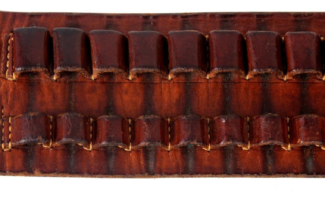 Antique George Lawrence Leather Ammo Belt - 4
